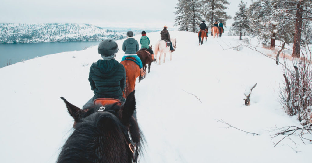 winter horse back riding west kelowna